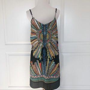 Glam Colorful Geometric Print Dress Size Small